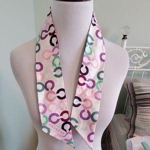Coach silk tie scarf